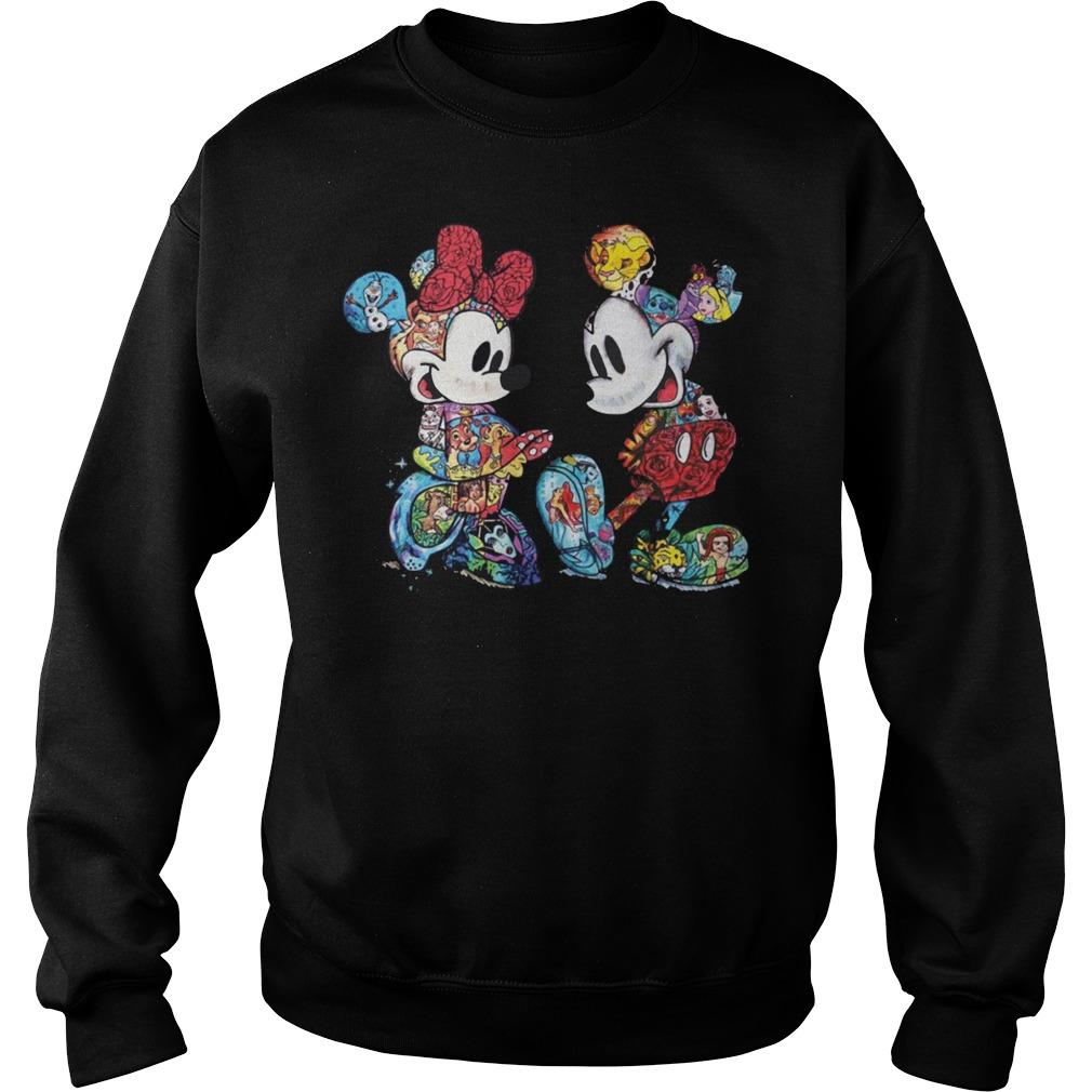 Mickey and Minnie Tattoo Love sweater