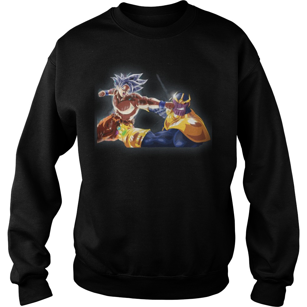 Thanos and Goku fighting mashup sweater