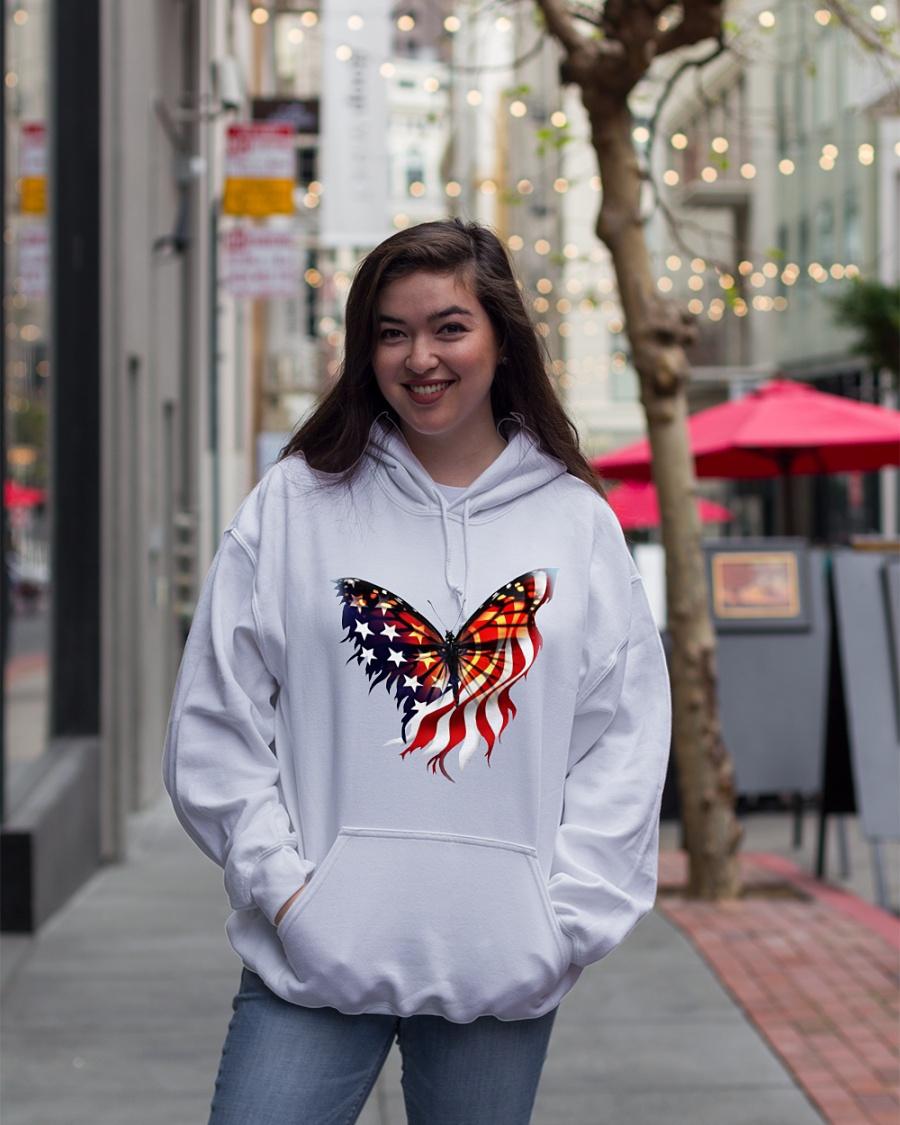 American flag butterfly lover hoodie
