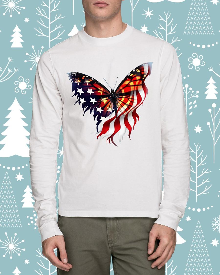 American flag butterfly lover longsleeve