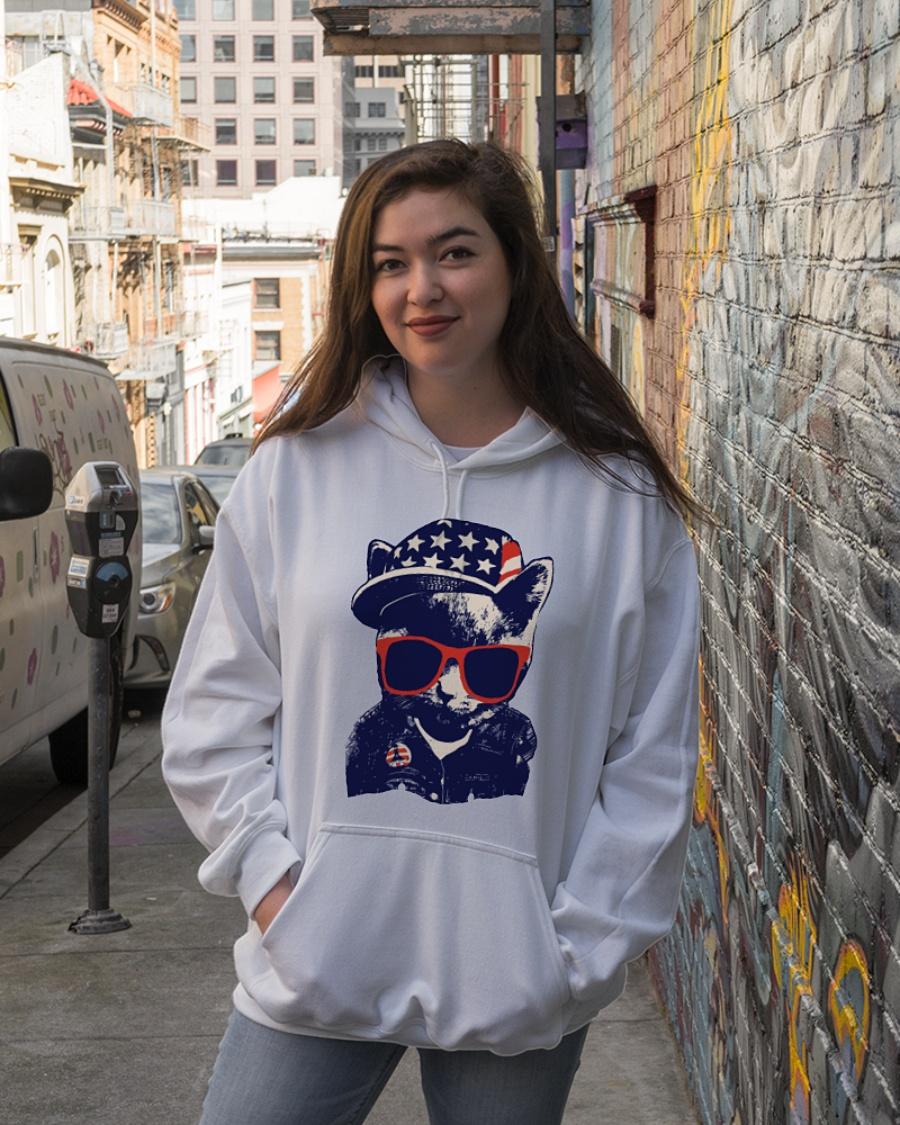 Baby cat fashion american flag hoodie