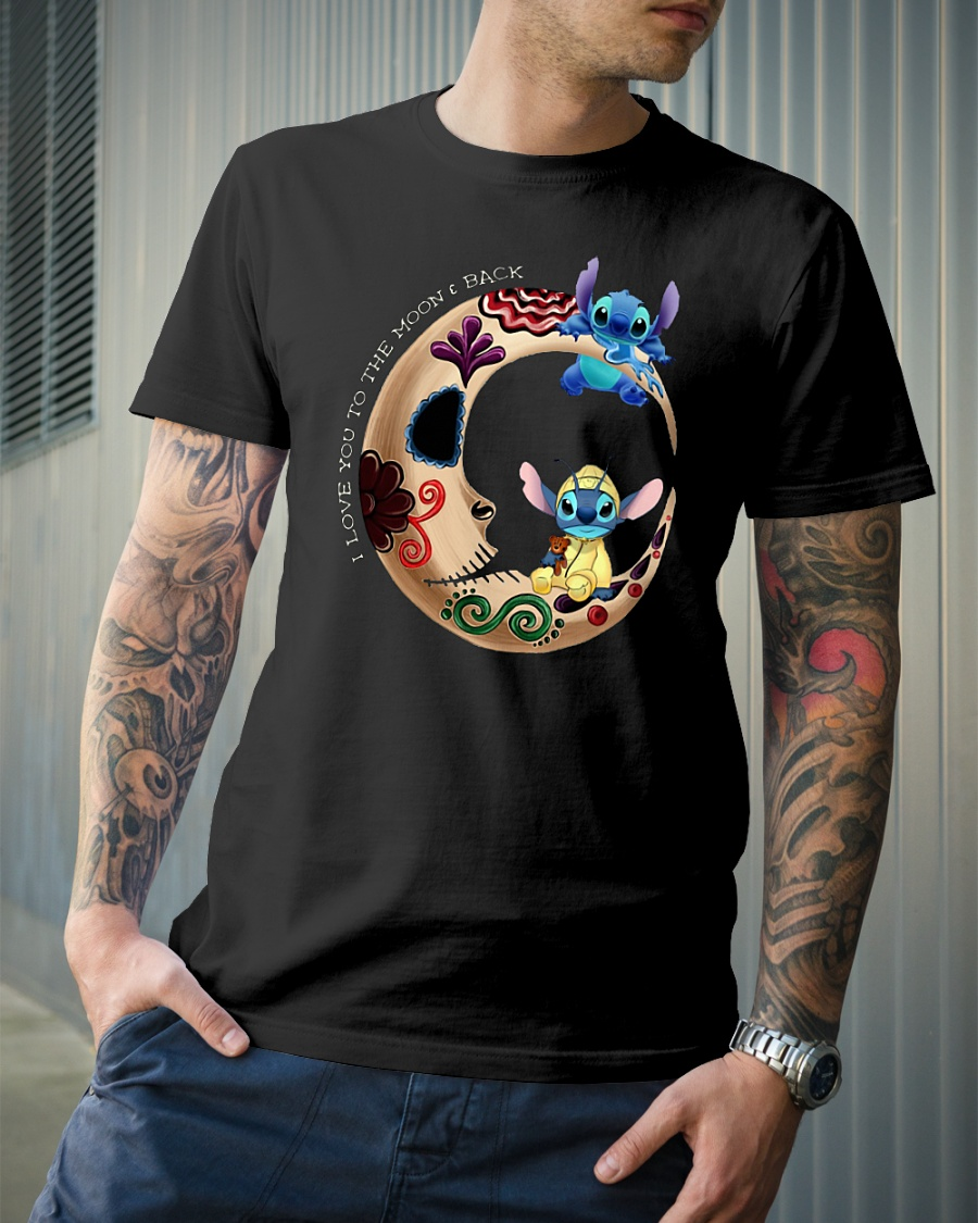 Stitch I love you to the moon and back shirt