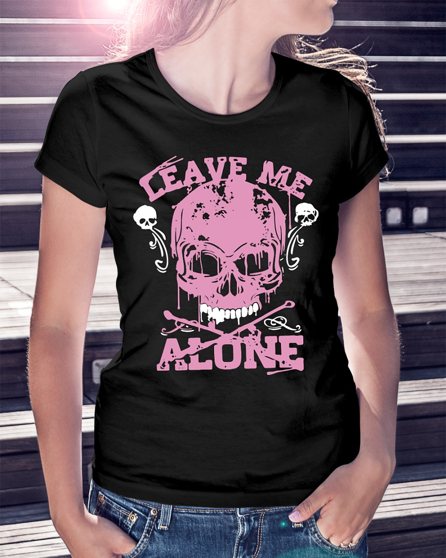 Official Leave Me Alone Skull ladies shirt