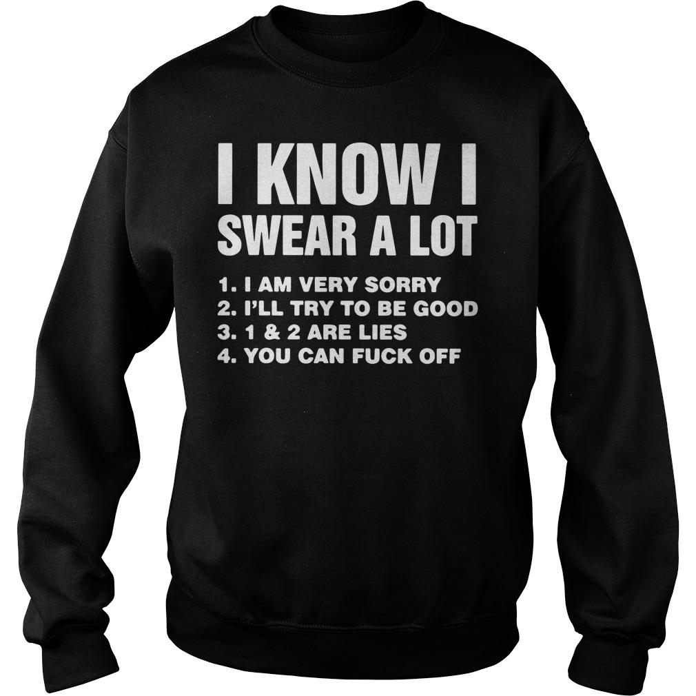 I know I swear a lot I am very sorry I'll try to be good sweater