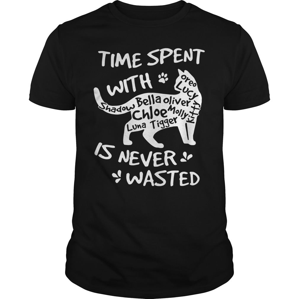 Time spent with family cat is never wasted shirt