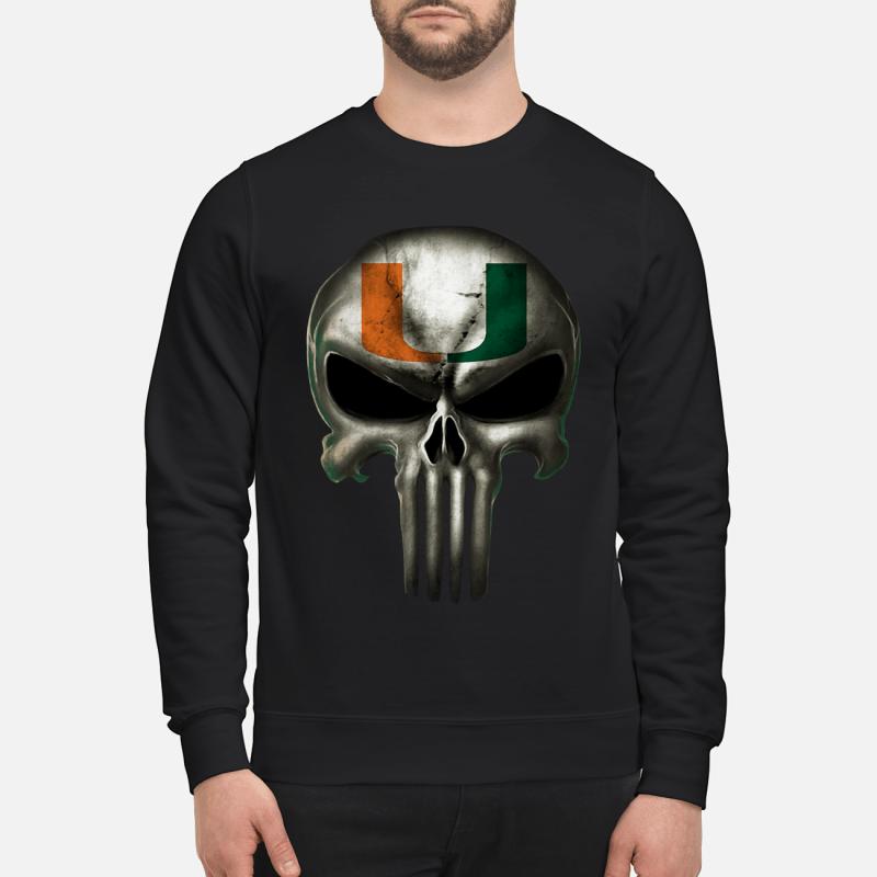 Mami hurricanes football x punisher logo skull Ncaa sweater