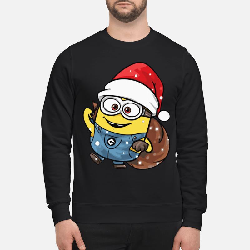 Minion Santa Christmas sweater and hoodie, long sleeve and T- shirt