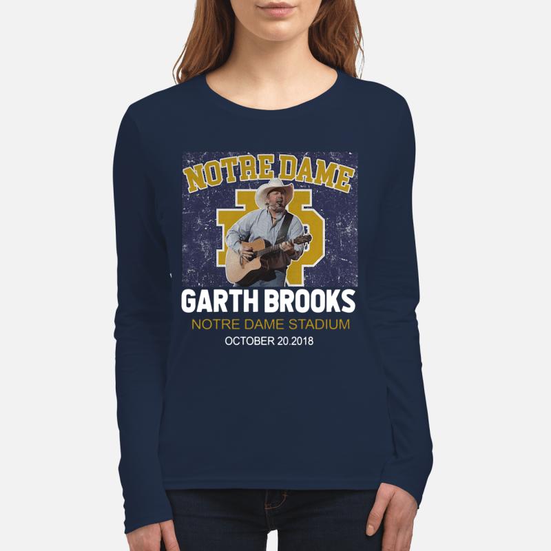 Notre Dame Garth Brooks Notre Dame Stadium October 20, 2018, long sleeve
