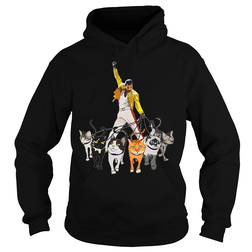 Freddie Mercury and his Cats hoodie