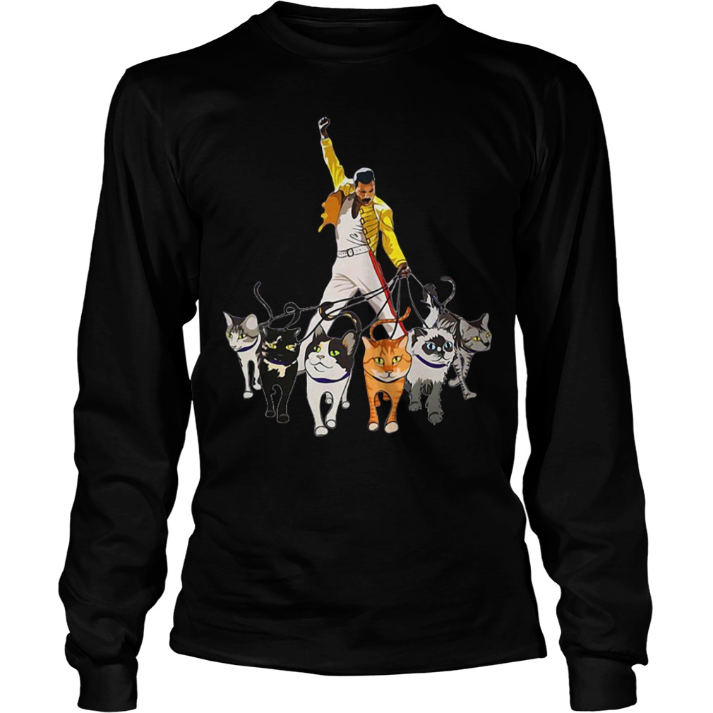 Freddie Mercury and his Cats long sleeve