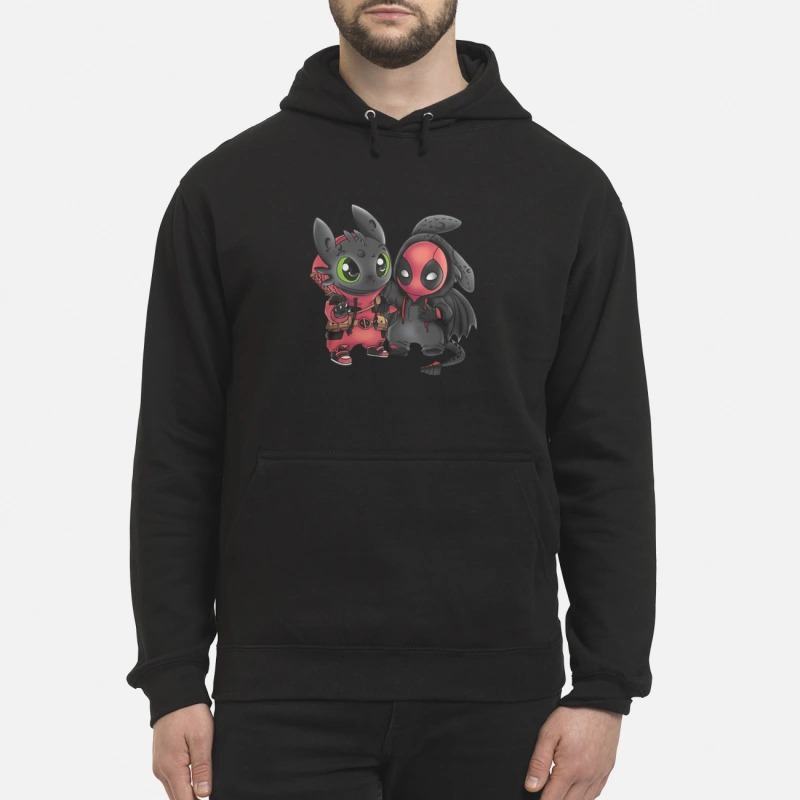 Baby Deadpool and Toothless hoodie