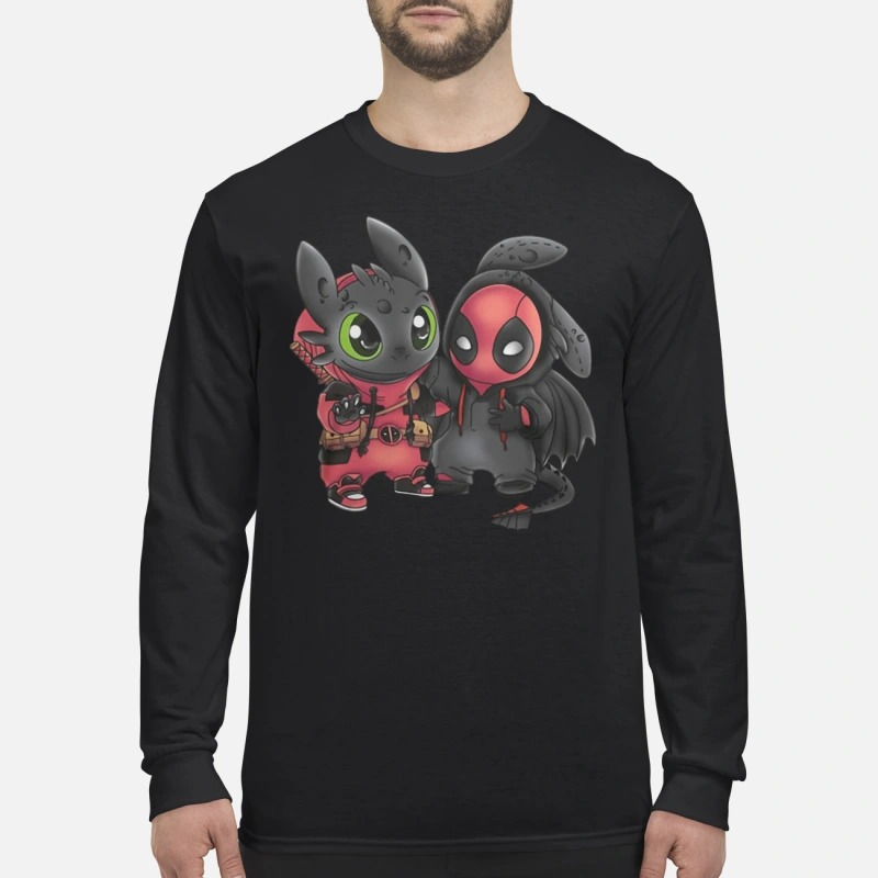Baby Deadpool and Toothless long sleeve