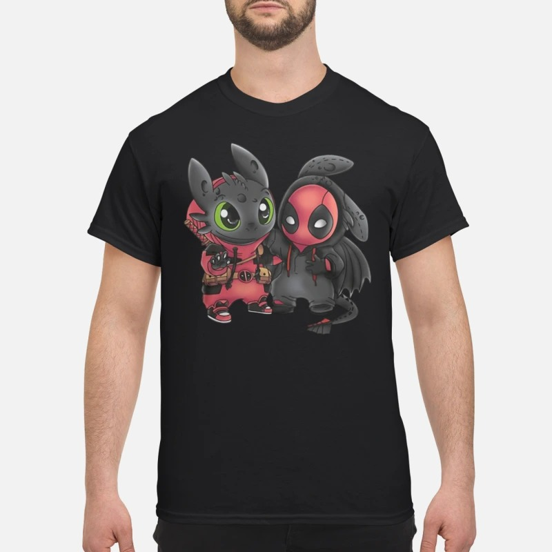 Baby Deadpool and Toothless shirt