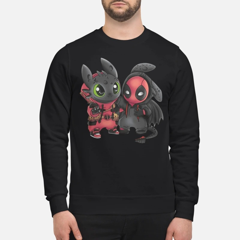 Baby Deadpool and Toothless sweater