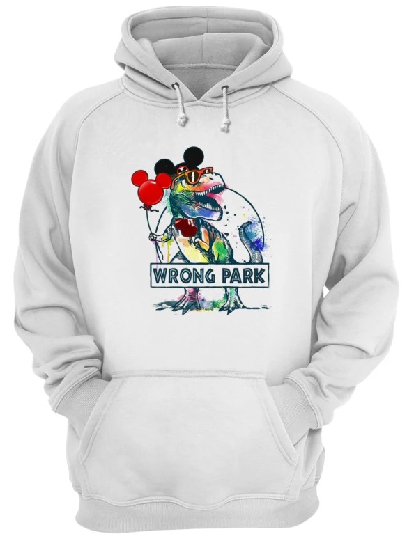 dd0c7becf Dinosaur T-rex and Mickey Mouse wrong Park shirt - imagestees2019 ...