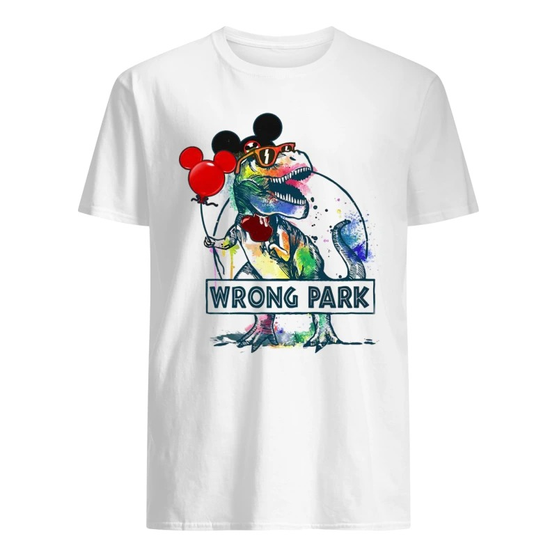 Dinosaur T-rex and Mickey Mouse wrong Park Premium Men's shirt