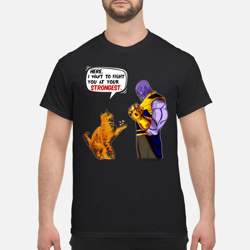 Goose and Thanos: Here I want to fight you at your stronges shirt