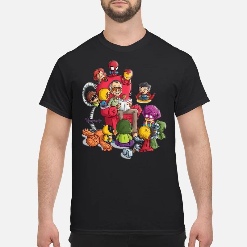 Stan Lee and Superhero Renography shirt