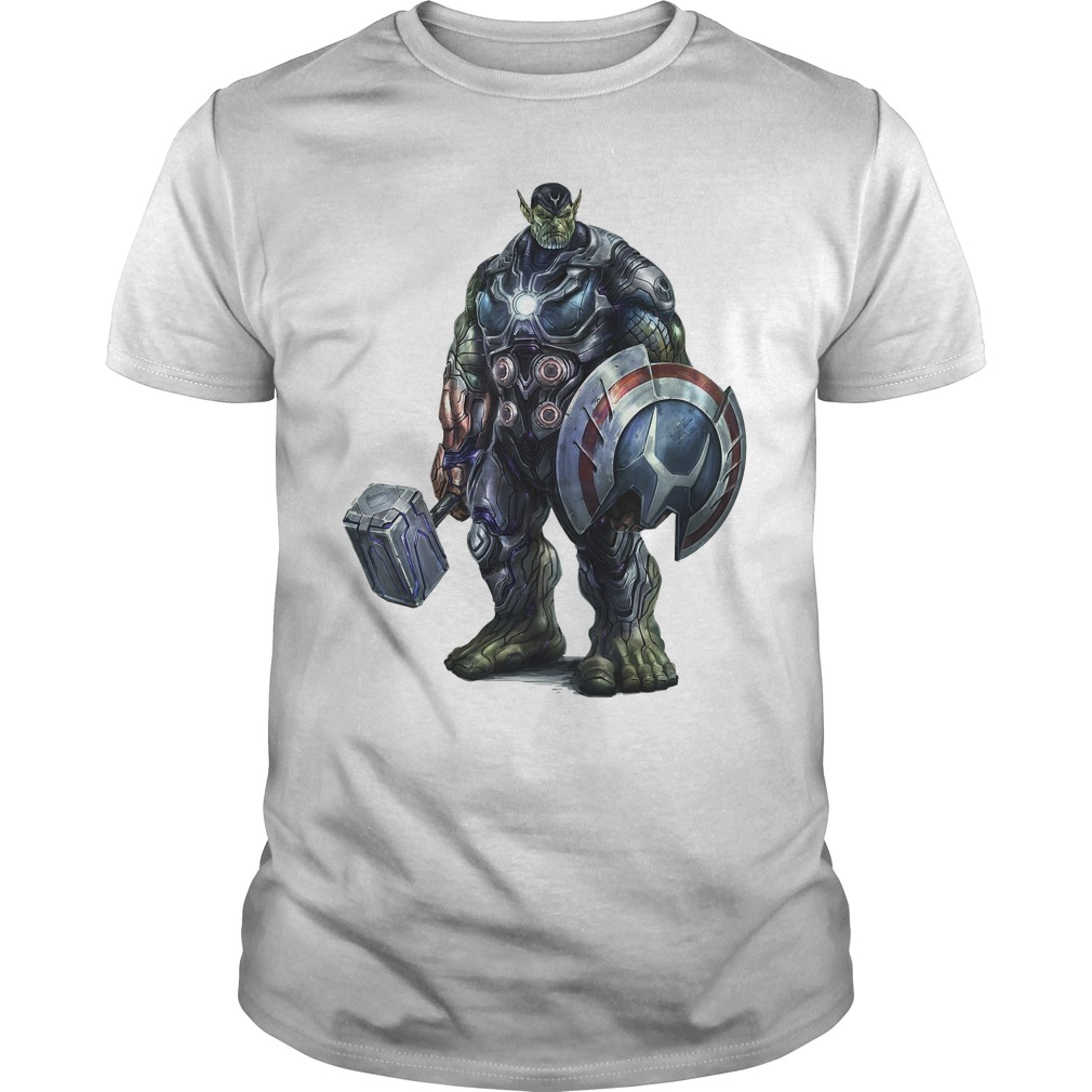 Super Skrull All Avengers heroes in one shirt