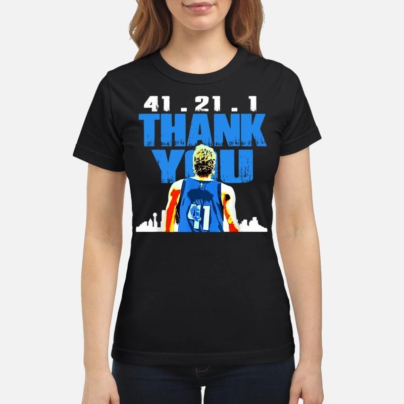 Thank you Mavericks Dirk 41. 21 .1 ladies tee