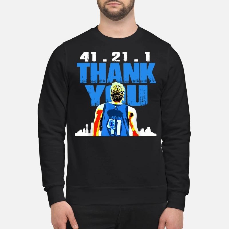 Thank you Mavericks Dirk 41. 21 .1 sweater