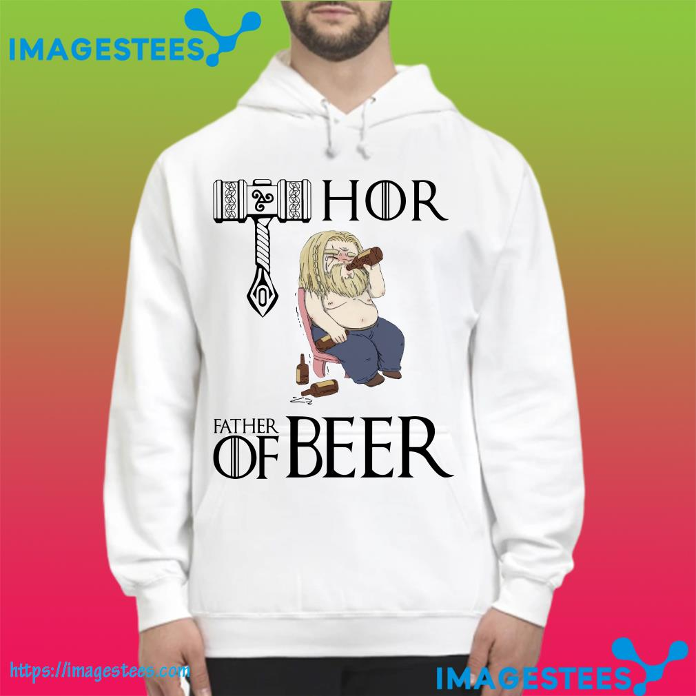 Avengers endgame Fat Thor father of beer hoodie
