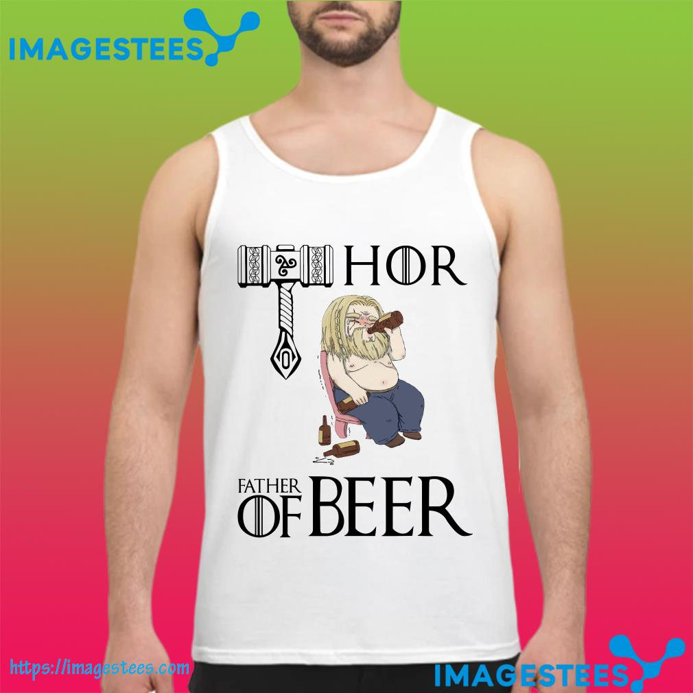 Avengers endgame Fat Thor father of beer tank top