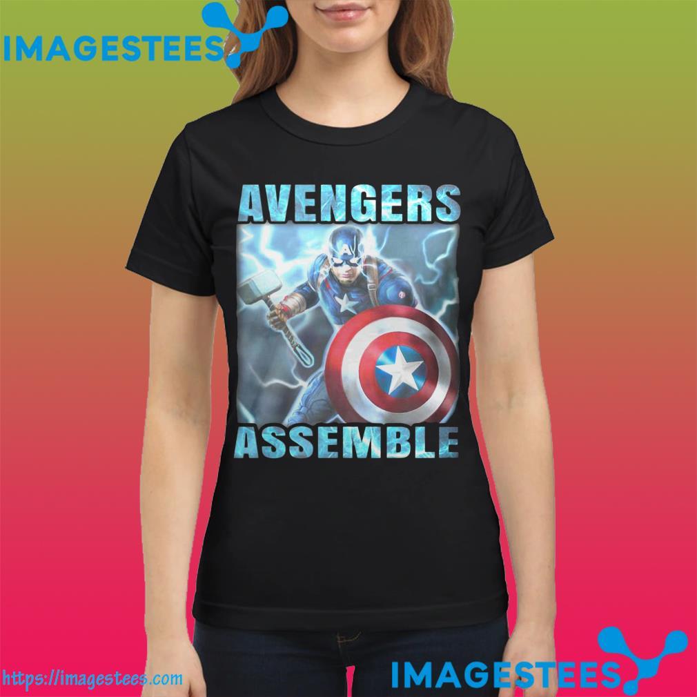 Captain America Avengers Assemble ladies tee