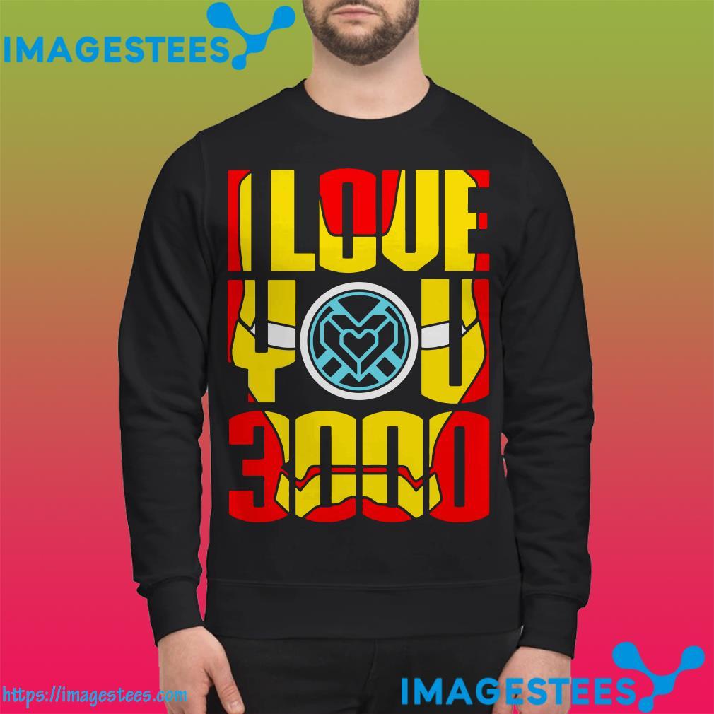 I love you 3000 Iron Man Face sweater