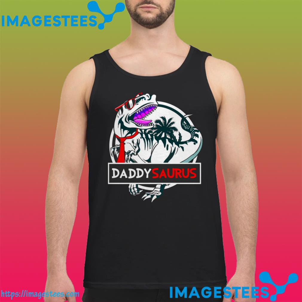 Official Daddy Saurus Glasses tank top