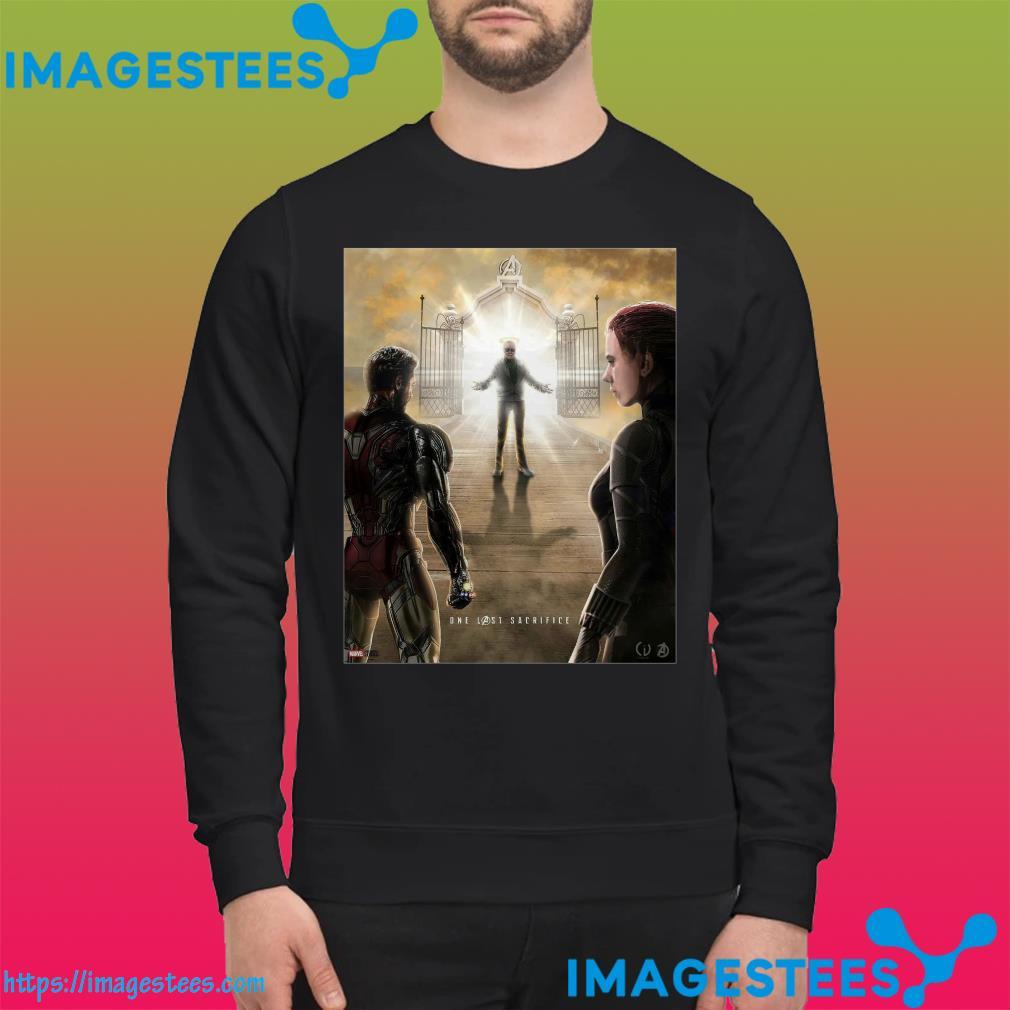 Stan Lee welcoming Tony Stark and Natasha Romanoff into heaven sweater
