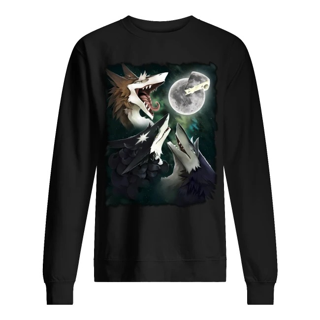 Three Foxs Sergal Moon Cheese sweater