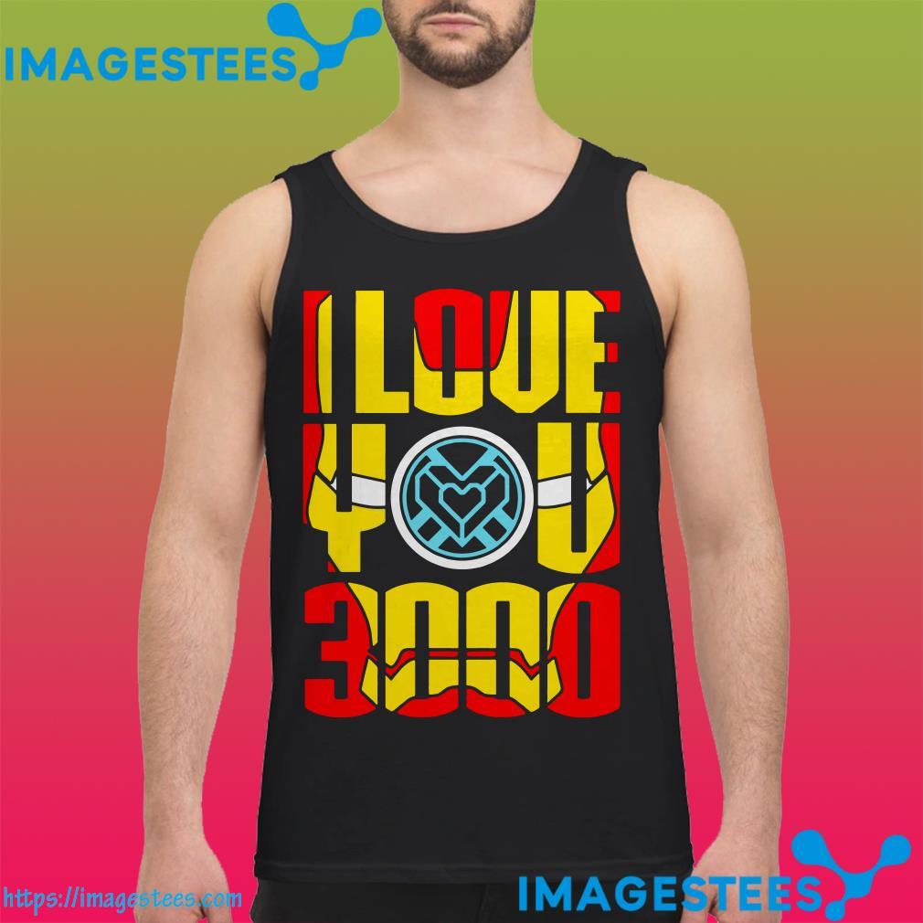 I love you 3000 Iron Man Face tank top