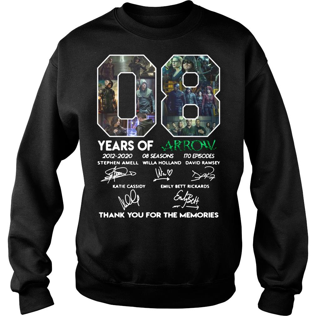 08 Years of Arrow thank you for the memories shirt sweater