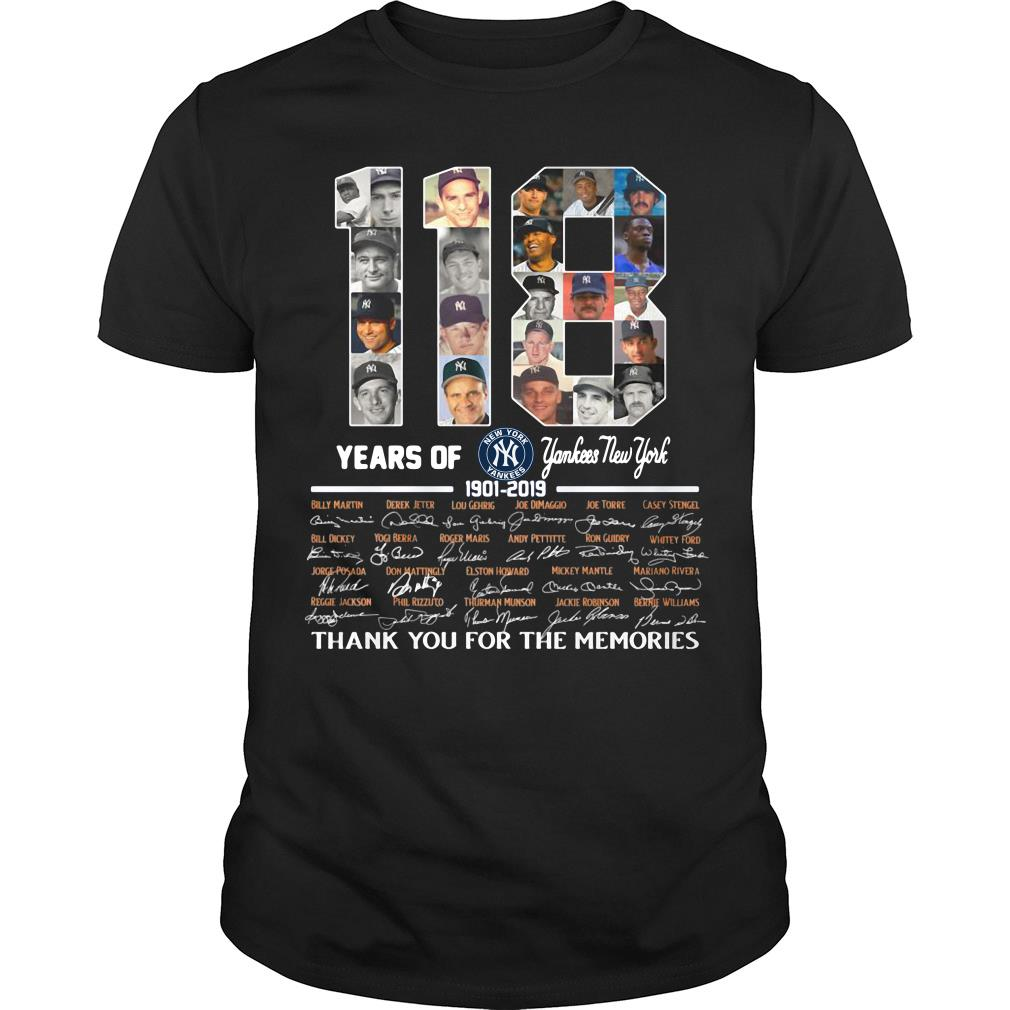 118 Years Of Yankees New York Thank You For The Memories Shirt