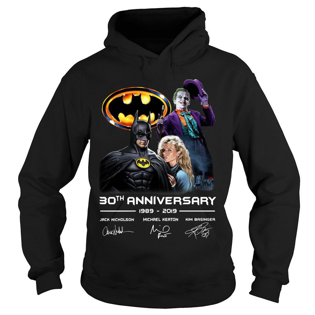 30th anniversary Jack Nicholson Michael Keaton and Kim Basinger 1989 - 2019 shirt hoodie