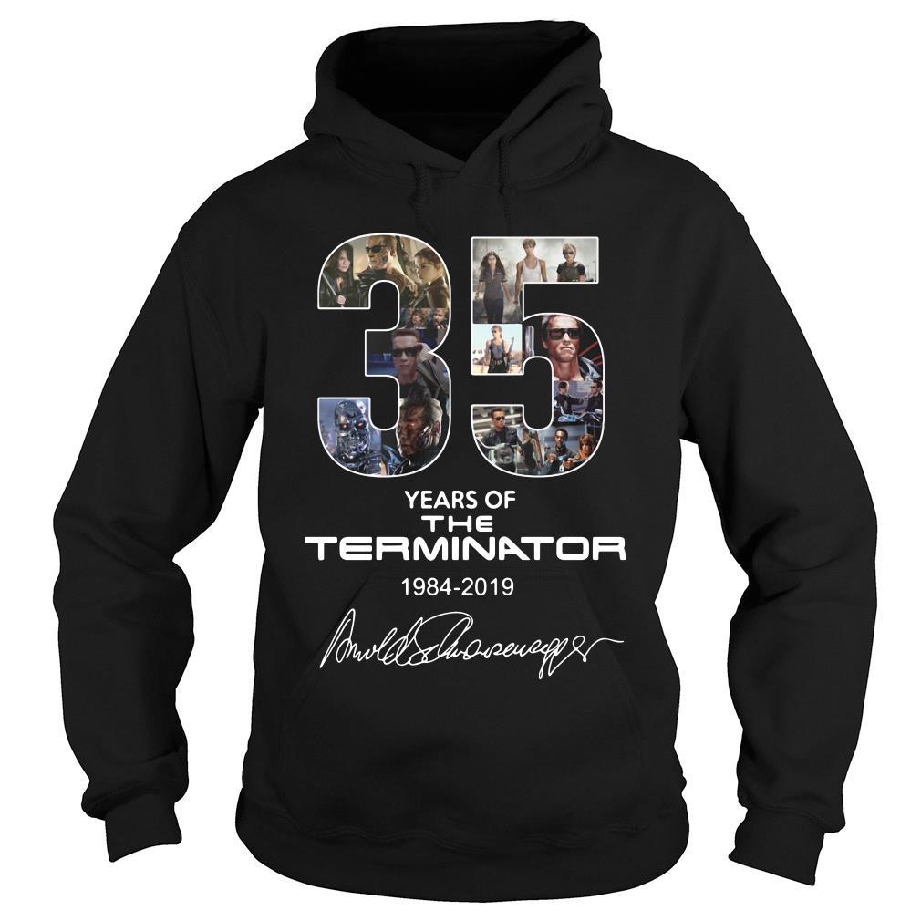 35 Years Of The Terminator 1984 2019 Signature Shirt hoodie
