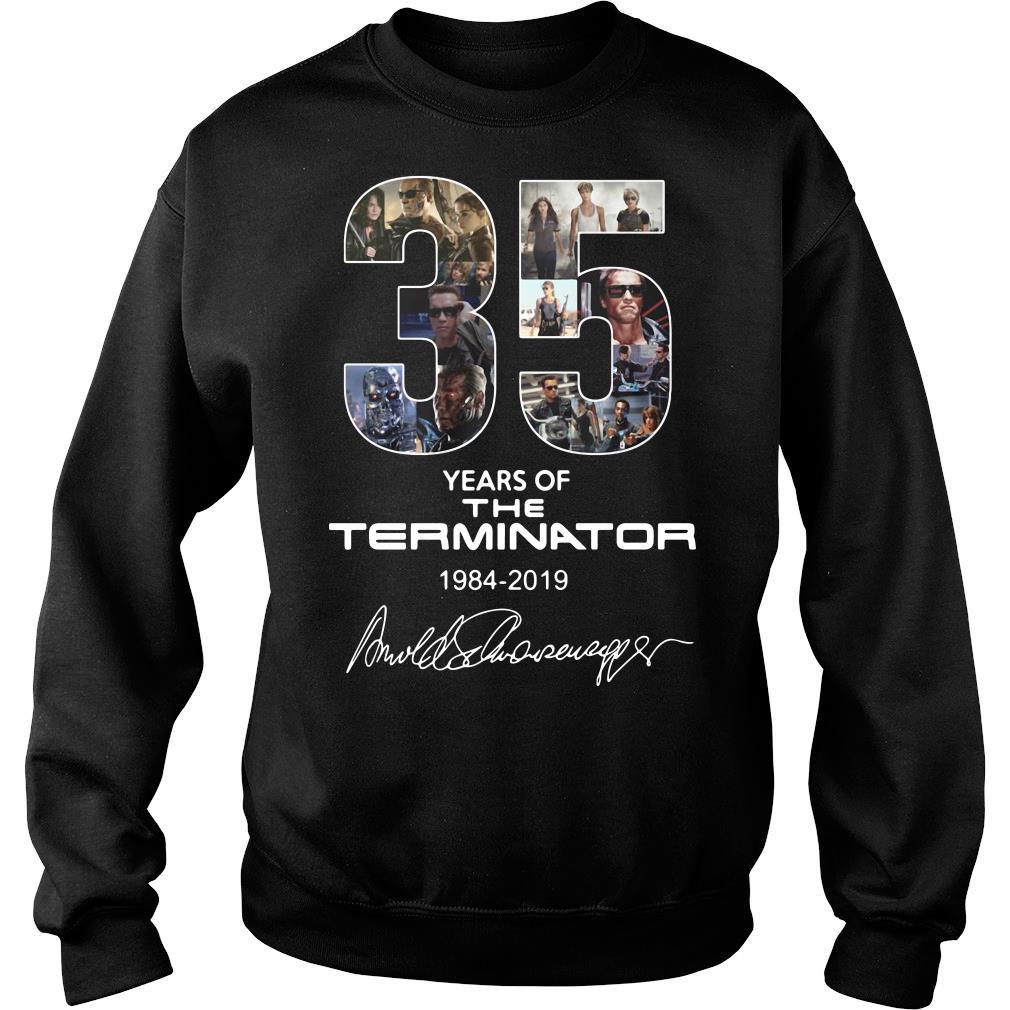 35 Years Of The Terminator 1984 2019 Signature Shirt sweater