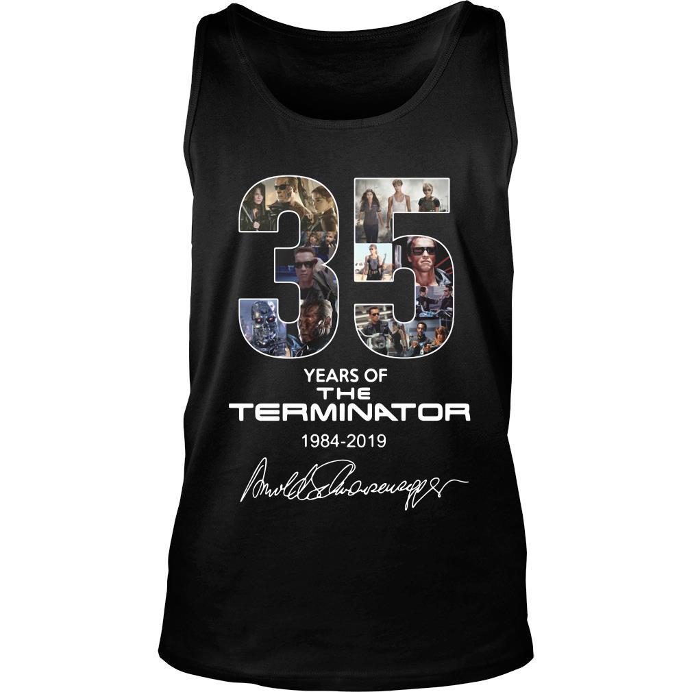 35 Years Of The Terminator 1984 2019 Signature Shirt tank top