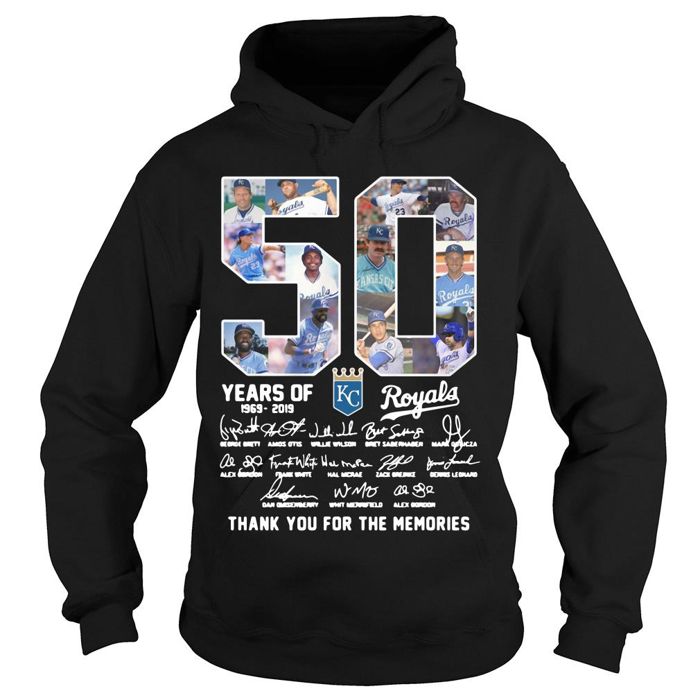 50 Years Of Kc Royals Thank You For The Memories Shirt hoodie