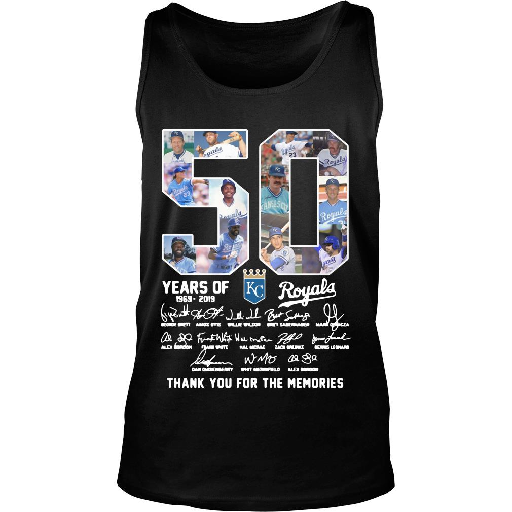 50 Years Of Kc Royals Thank You For The Memories Shirt tank top