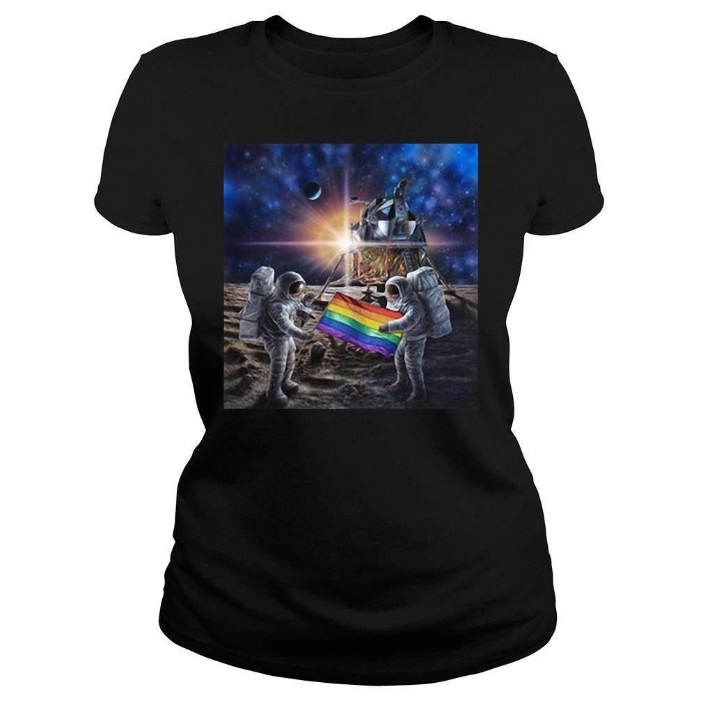 50th Anniversary Moon Landing And Stonewall Riots NYC Gay Pride LGBT 1969 shirt ladies tee
