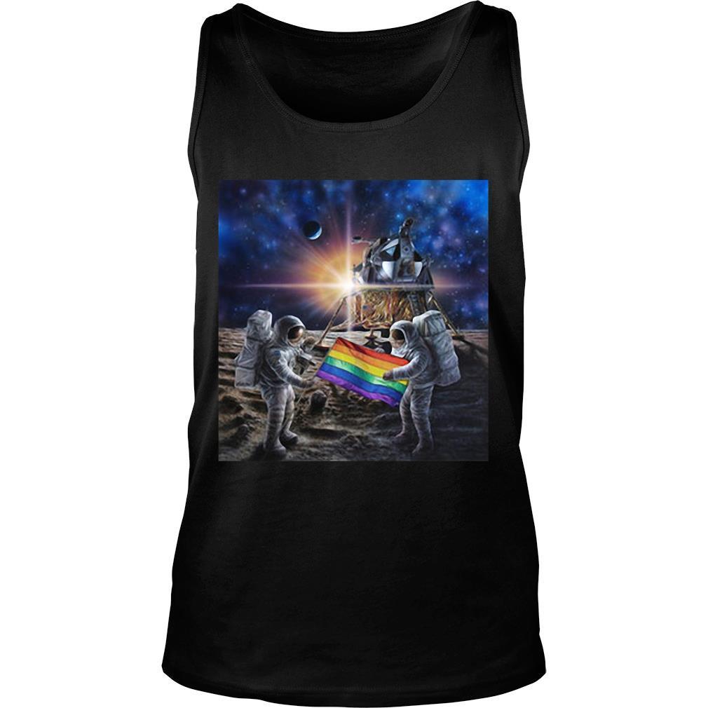 50th Anniversary Moon Landing And Stonewall Riots NYC Gay Pride LGBT 1969 shirt tank top
