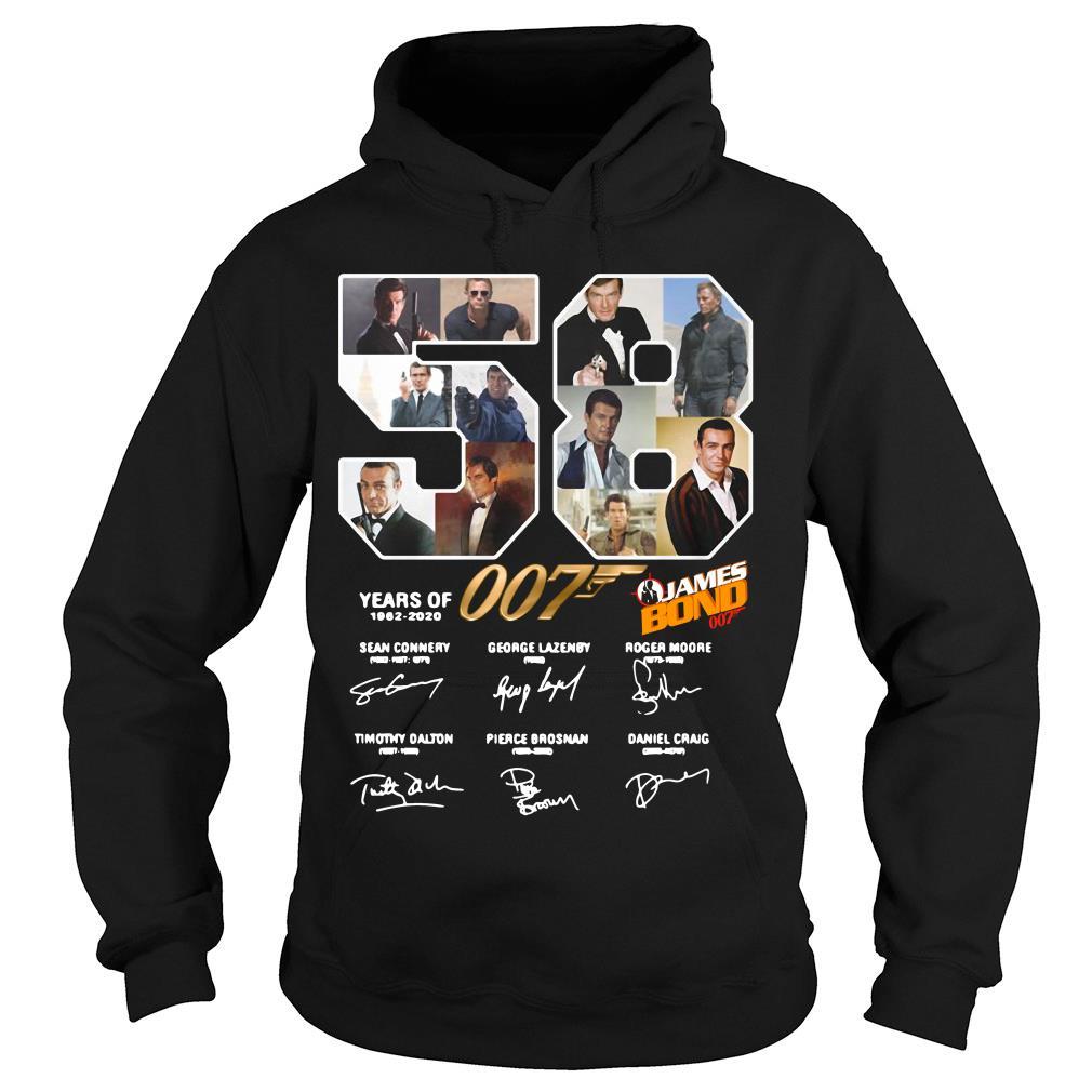 58 Years Of James Bond Signature Shirt hoodie