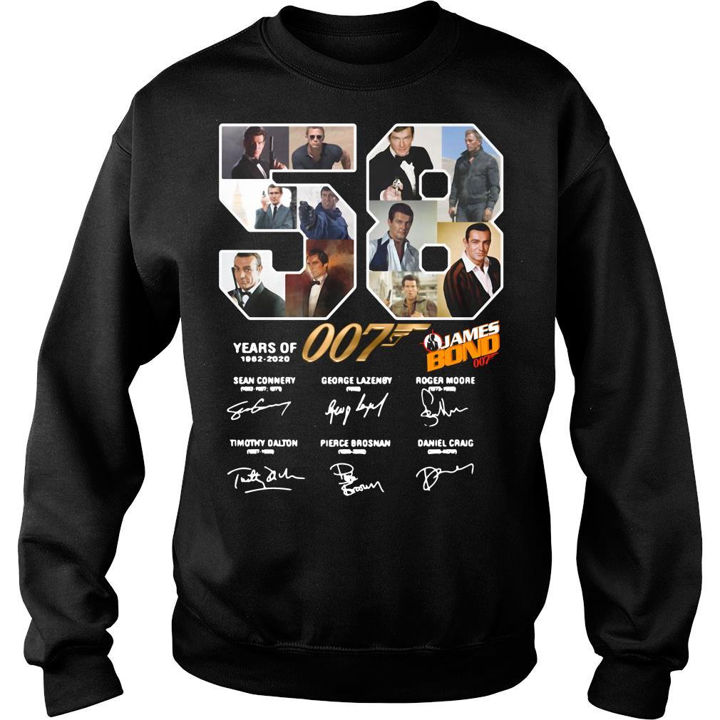 58 Years Of James Bond Signature Shirt sweater