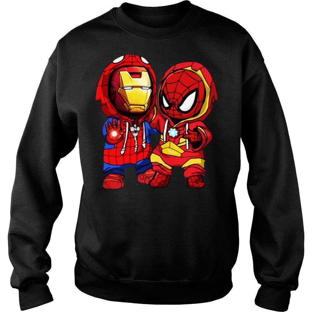 Baby Iron Man And Baby Spiderman shirt sweater