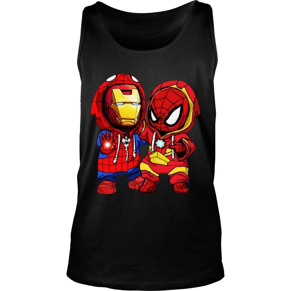 Baby Iron Man And Baby Spiderman shirt tank top