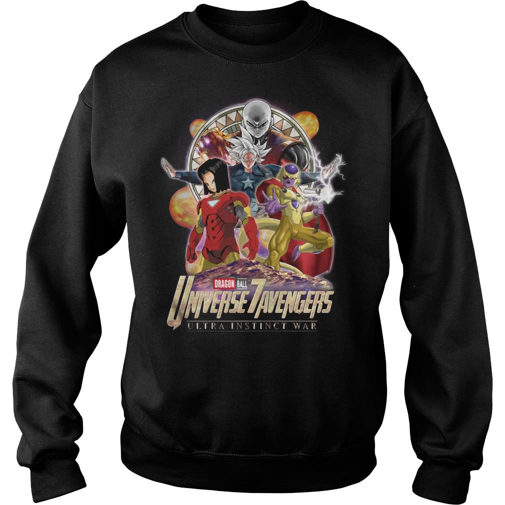 Dragon Ball 7 Universe Avengers ultra instinct war shirt sweater
