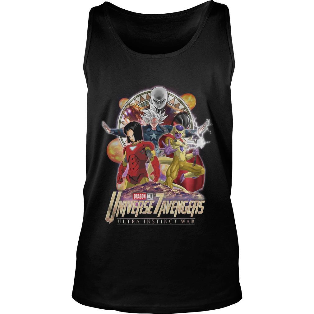 Dragon Ball 7 Universe Avengers ultra instinct war shirt tank top