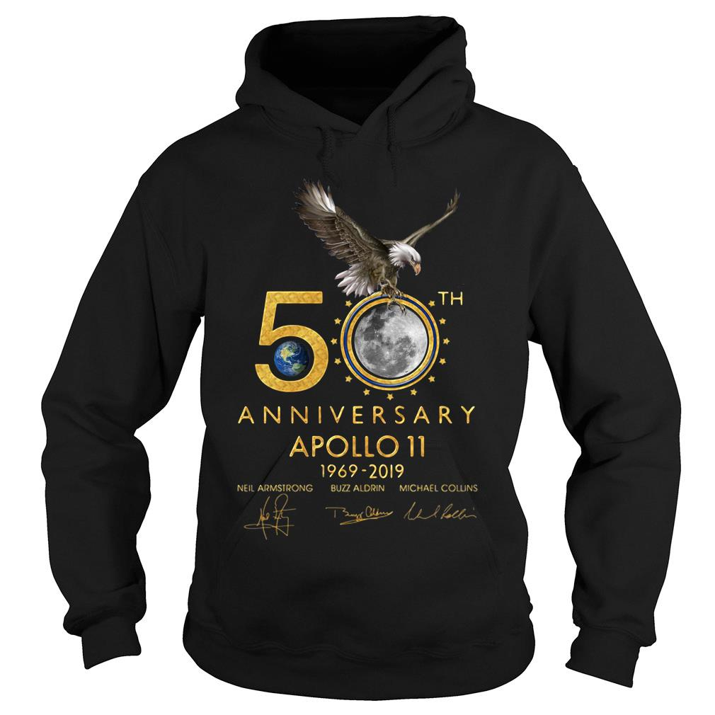 Eagles 50th Anniversary Apollo 11 1969 2019 Signature Shirt hoodie